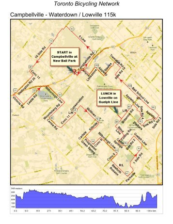 Extra Long 115k - Toronto Bicycling Network