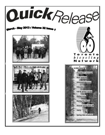 Quick Release March-May 2013.pdf - Toronto Bicycling Network