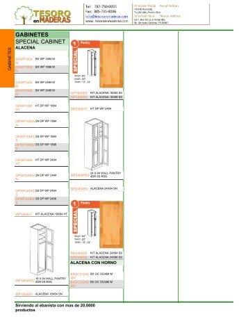 GABINETES SPECIAL CABINET - Tesoro en Maderas
