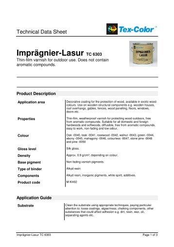 Imprägnier-Lasur TC 6303 - Tex-Color