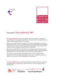 Juryrapport TheaterAffichePrijs 2007.pdf - Theater Instituut Nederland