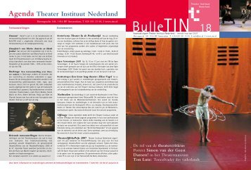 BULLETIN_18/2007 - Theater Instituut Nederland