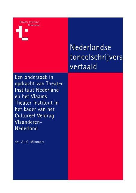Nederlandse toneelschrijvers vertaald - Theater Instituut Nederland