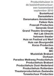 Productiehuizen in de BIS_een tussenstand.pdf - Theater Instituut ...