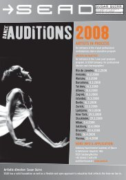 AUDITIONS 2008 - Theater Instituut Nederland