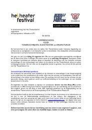 In samenwerking met het Theaterfestival - Theater Instituut Nederland