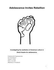 Adolescence Invites Rebellion - Theater Instituut Nederland