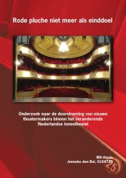 Rode pluche niet meer als einddoel - Theater Instituut Nederland
