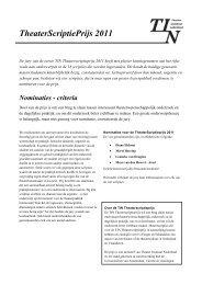 TheaterScriptiePrijs 2011 - Theater Instituut Nederland