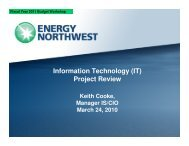 Information Technology (IT) Project Review - Energy Northwest