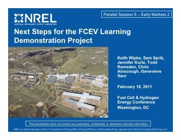 Next Steps for the FCEV Learning Demonstration Project - National ...
