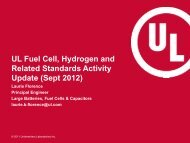 UL Fuel Cell, Hydrogen and Related Standards Activity Update ...