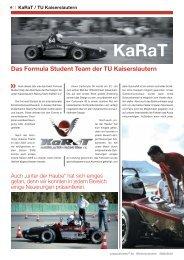 Das Formula Student Team der TU Kaiserslautern - KaRaT
