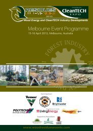 Melbourne Event Programme - Residues to Revenues