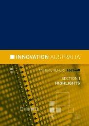 INNOVATION AUsTRALIA - AusIndustry