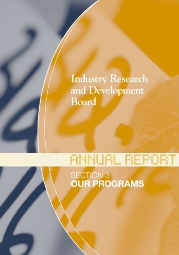 Industry Research and Development Board - AusIndustry