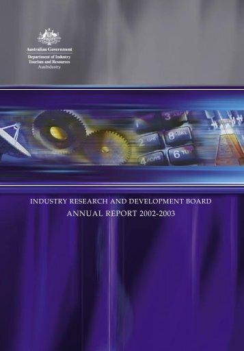 ANNUAL REPORT 2002-2003 - AusIndustry