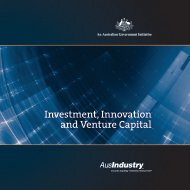 Investment, Innovation and Venture Capital - AusIndustry