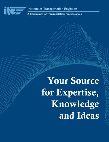 General Marketing Brochure - Institute of Transportation Engineers