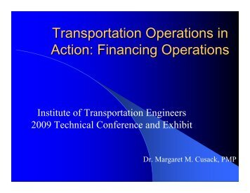 Planning and Getting Ready - Institute of Transportation Engineers
