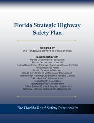 Florida Strategic Highway Safety Plan 2006 - Florida Department of ...