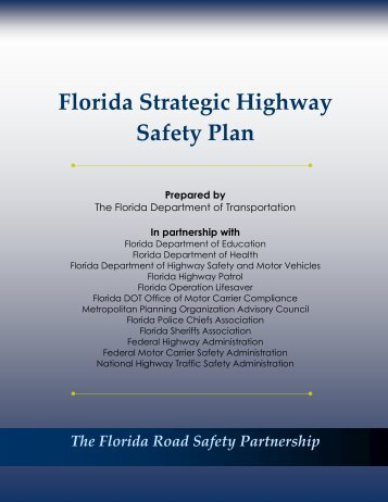 Florida Strategic Highway Safety Plan 2006 - Florida Department of ...