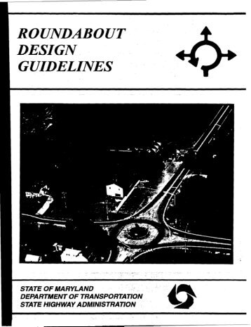roundabout ~' ~ design guidelines - Institute of Transportation ...