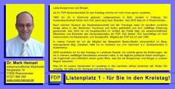 Listenplatz 1 - für Sie in den Kreistag! - FDP Baden-Württemberg