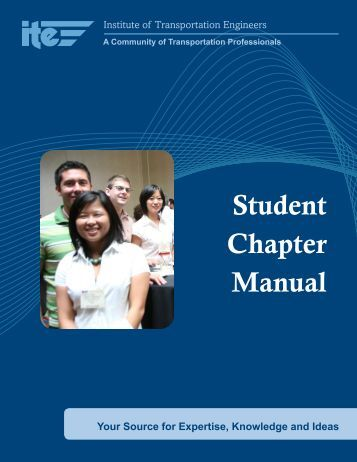 Student Chapter Manual - Institute of Transportation Engineers