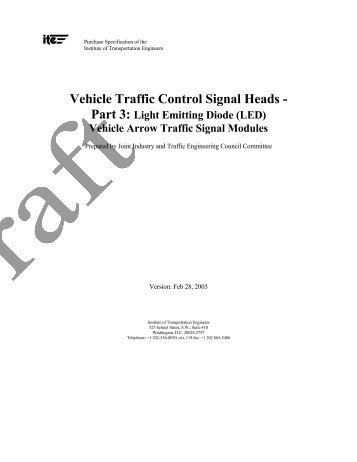 Vehicle Traffic Control Signal Heads - Part 3 - Institute of ...