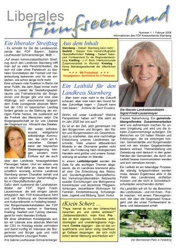 Information des FDP Kreisverbands Starnberg - FDP Krailling