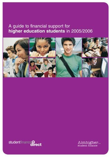 a guide to financial support for higher student finance ni rh yumpu com My Financial Guide a guide to financial support for new full-time students in higher education