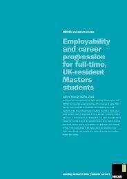 Employability and career progression for full-time, UK ... - Prospects