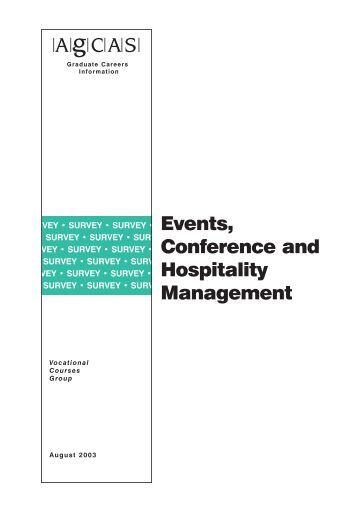 Events, Conference and Hospitality Management - Prospects