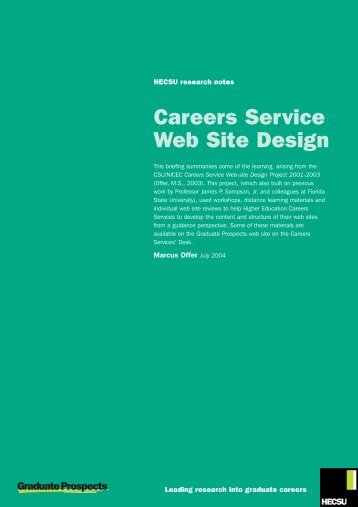 Careers service website design - Hecsu