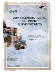 2007 Telemark Rental Equipment Survey Results - SnowSports ...