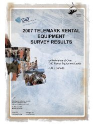 2007 Telemark Rental Equipment Survey Results - SnowSports ...