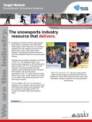 W e are the industry . - SnowSports Industries America