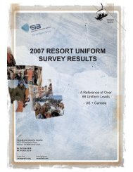 Uniform Survey Report Cover - SnowSports Industries America