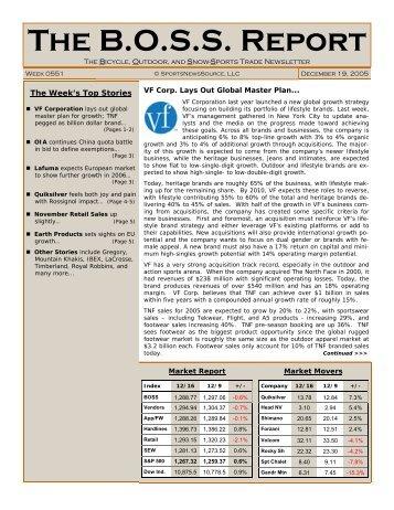 The B.O.S.S. Report - SIA