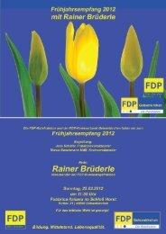 Rainer Brüderle Mdb - FDP Kreisverband Gelsenkirchen