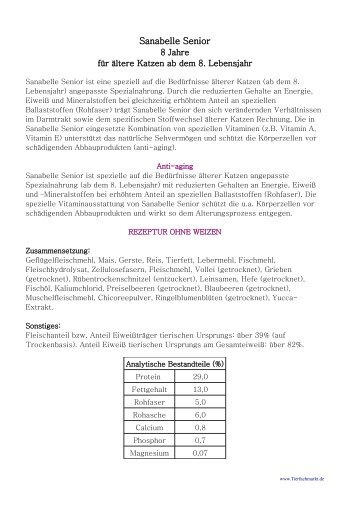 Info - Sanabelle Senior - als PDF