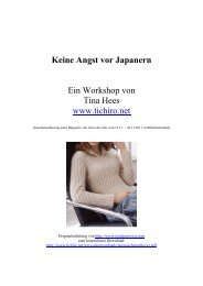 Keine Angst vor Japanern Ein Workshop von Tina Hees www.tichiro ...