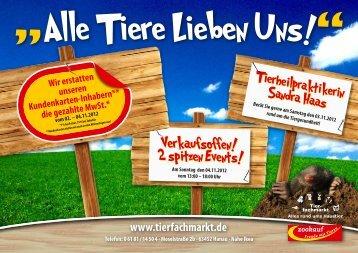 2 spitzen Events! - Tierfachmarkt Hoose & Stab Vertriebs GmbH