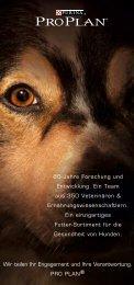 Broschüre Pro Plan Hundefutter