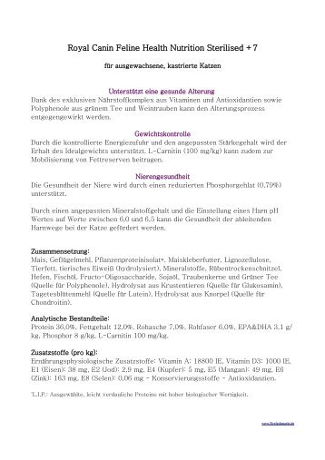 Royal Canin Feline Health Nutrition Sterilised +7