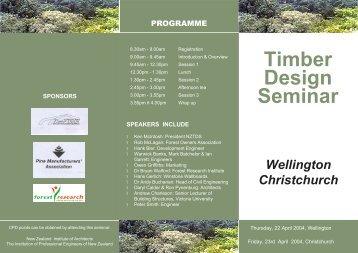 Timber Design Seminar - Timber Design Society