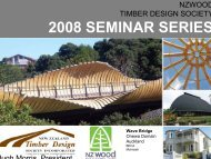 2008 SEMINAR SERIES - Timber Design Society