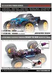 Exploded View 1/10th scale electric powered monster truck(Item No ...