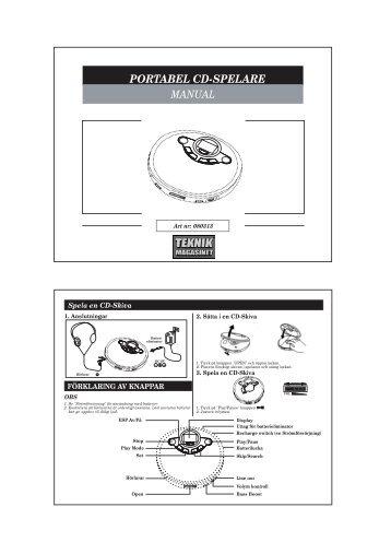 PORTABEL CD-SPELARE - Manualer